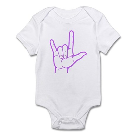 Purple I Love You Infant Bodysuit