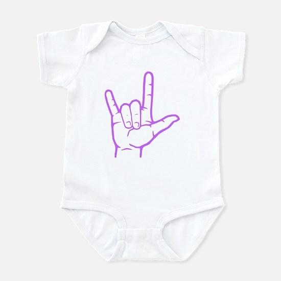 Purple I Love You Infant Bodysuit