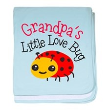 Grandpa's Little Love Bug baby blanket