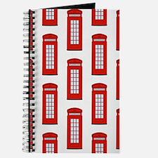 British Red Telephone Box Pattern Journal