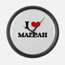 I Love Maleah Large Wall Clock