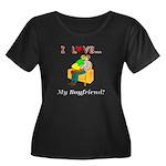 Love My Women's Plus Size Scoop Neck Dark T-Shirt