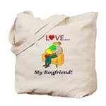 Love My Boyfriend Tote Bag