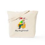 Love My Boyfriend Tote Bag