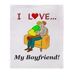 Love My Boyfriend Throw Blanket