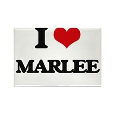 I Love Marlee Magnets