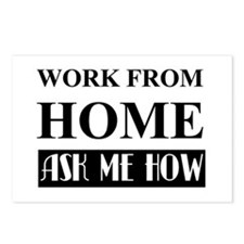 Work From Home Bw Postcards (package Of 8)