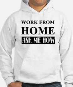 Work from home bw Hoodie