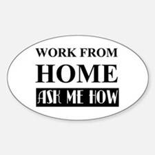 Work From Home Bw Decal