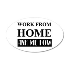 Work From Home Bw Wall Decal