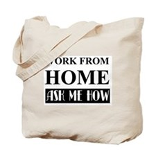 Work from home bw Tote Bag