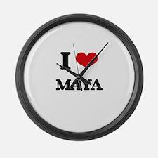 I Love Maya Large Wall Clock