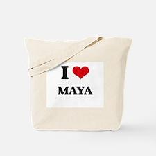 I Love Maya Tote Bag