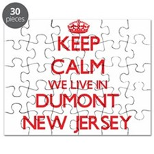 Keep calm we live in Dumont New Jersey Puzzle