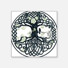 "Celtic Tree Knot Square Sticker 3"" x 3"""