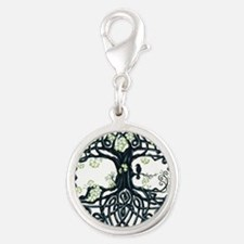 Celtic Tree Knot Silver Round Charm