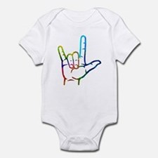 Rainbow Burst I Love You Infant Bodysuit