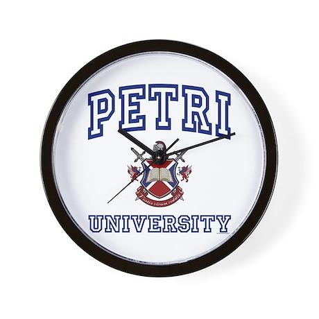 PETRI University Wall Clock