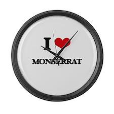 I Love Monserrat Large Wall Clock