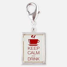 Keep Calm and Drink Coffee Charms