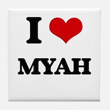 I Love Myah Tile Coaster