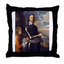oliver,cromwell Throw Pillow