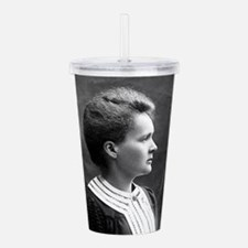 marie curie Acrylic Double-wall Tumbler