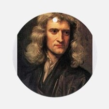 sir isaac newton Ornament (Round)