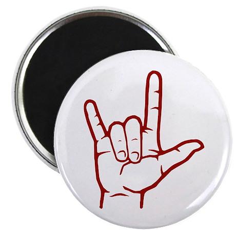 Red ASL I Love You Magnet