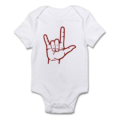Red ASL I Love You Infant Bodysuit