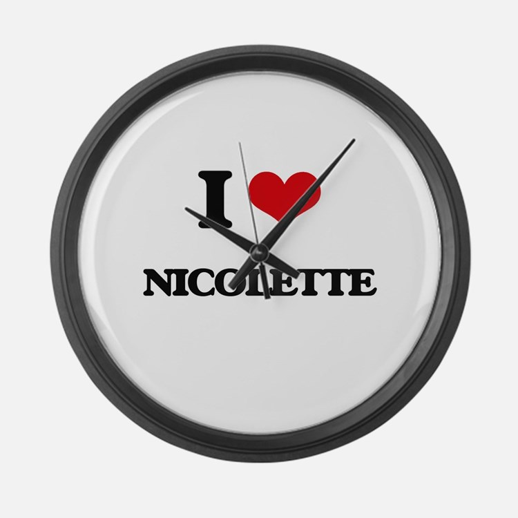 I Love Nicolette Large Wall Clock