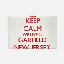 Keep calm we live in Garfield New Jersey Magnets
