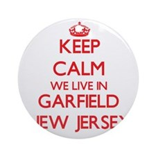 Keep calm we live in Garfield New Ornament (Round)