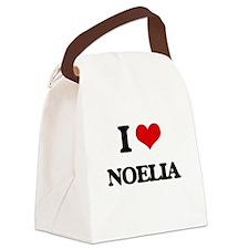 I Love Noelia Canvas Lunch Bag