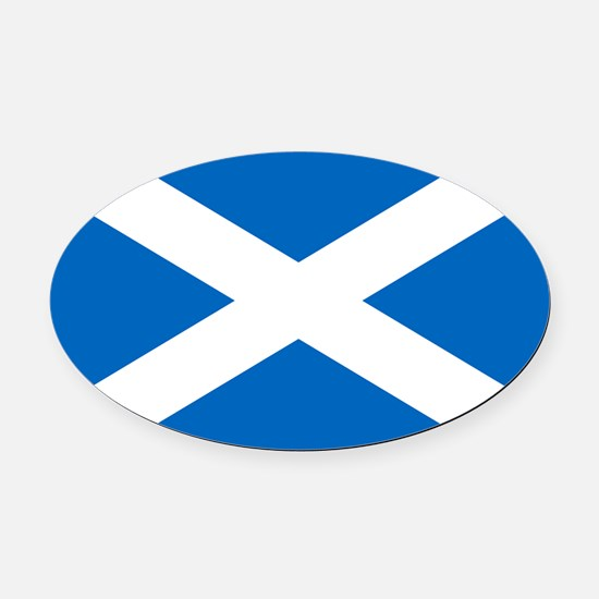 scotland-flag.png Oval Car Magnet