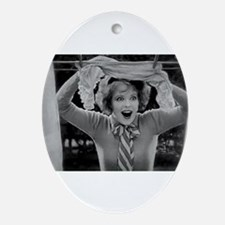 clara bow Ornament (Oval)