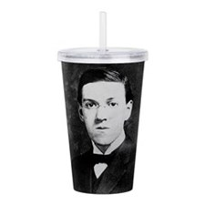 hp lovecraft Acrylic Double-wall Tumbler
