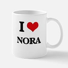 I Love Nora Mugs