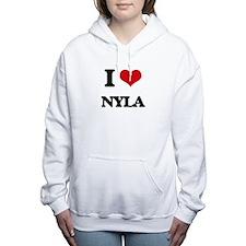 I Love Nyla Women's Hooded Sweatshirt