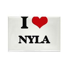 I Love Nyla Magnets