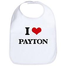 I Love Payton Bib