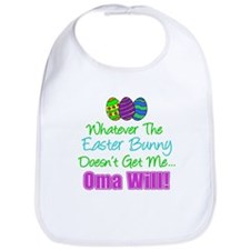 Easter Bunny Doesn't Oma Will Bib