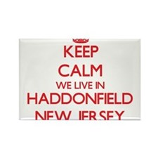 Keep calm we live in Haddonfield New Jerse Magnets