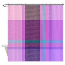 PLAID LAVENDAR Shower Curtain