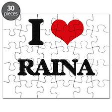 I Love Raina Puzzle