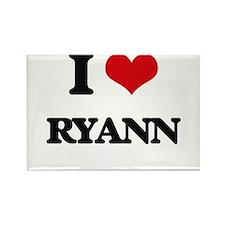 I Love Ryann Magnets