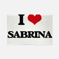 I Love Sabrina Magnets