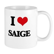 I Love Saige Mugs
