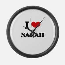 I Love Sarah Large Wall Clock