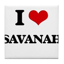 I Love Savanah Tile Coaster